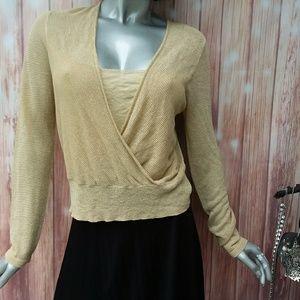 Rafaella Women's Large Sweater with Gold Metallic